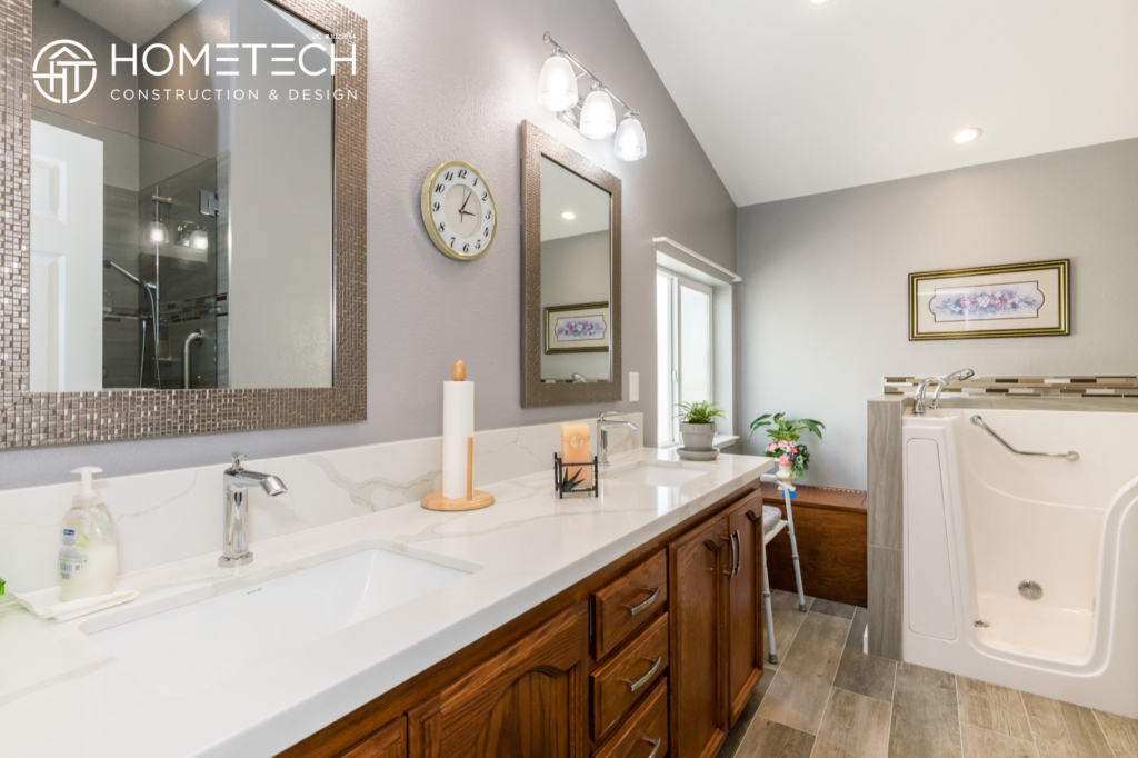 Before & After: Gorgeous Mobile Home Bathroom Remodel