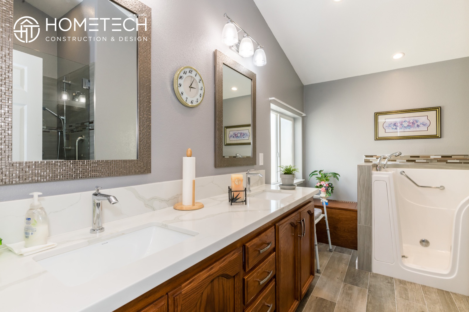 Image of: Before After Gorgeous Mobile Home Bathroom Remodel