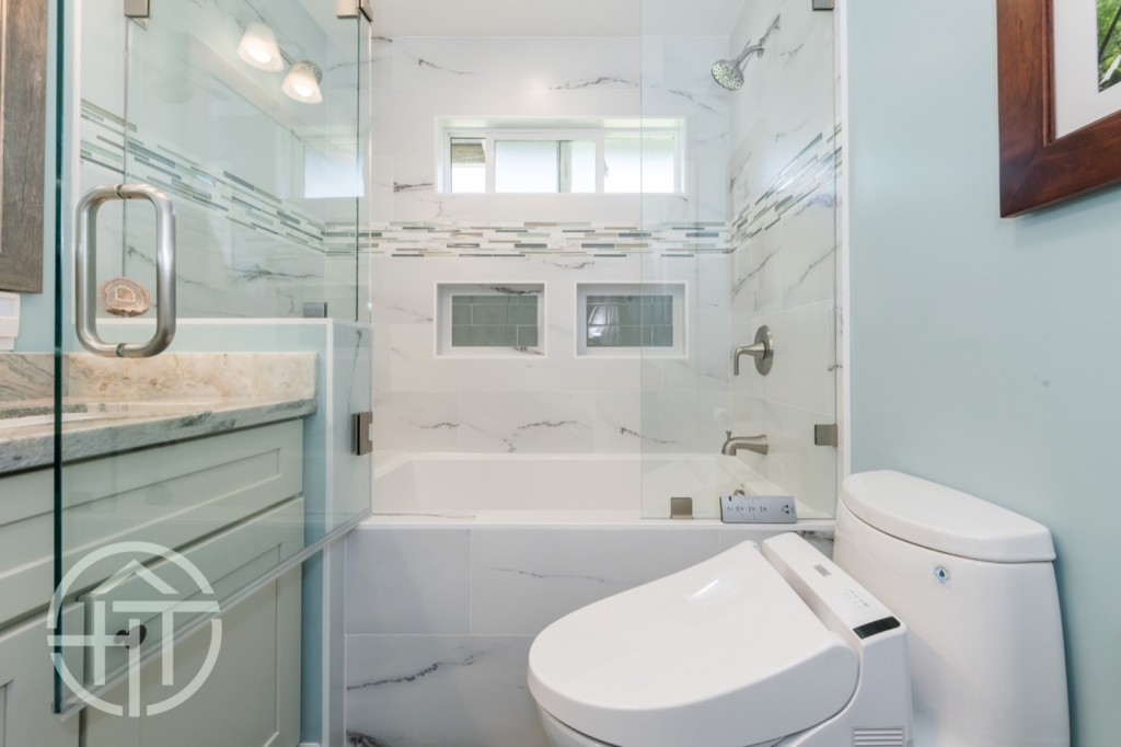 HomeTech bathroom remodel in Sunnyvale.